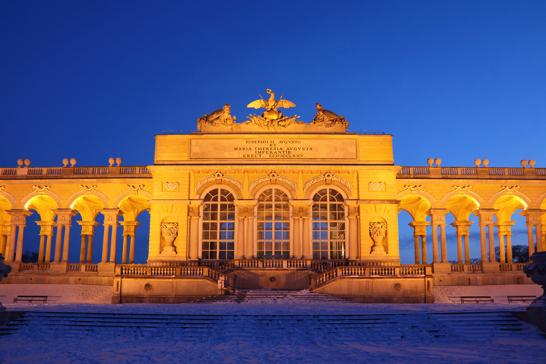 Schönbrunn Palace in Vienna at night