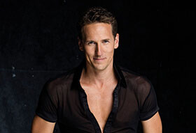 Brendan Cole in a black shirt