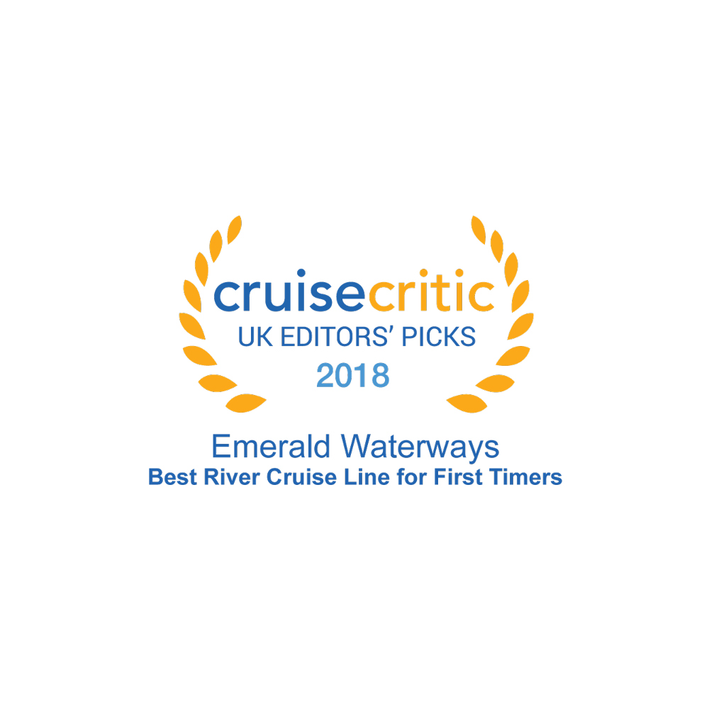 Cruise Critic Best River Cruise Line for First Timers 2018 award logo