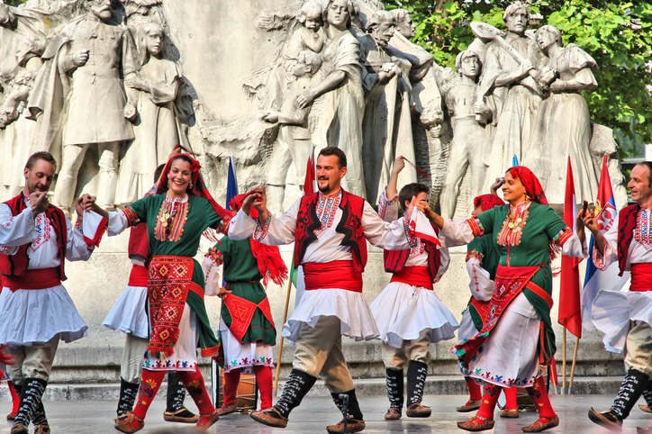 image of folk dancers