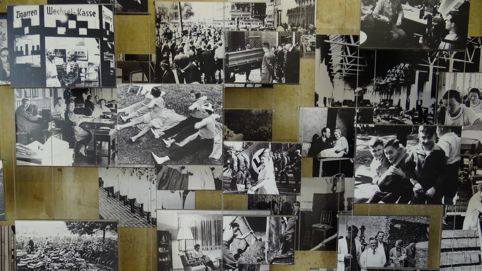 Pictures on the wall of the National Socialism Documentation Centre