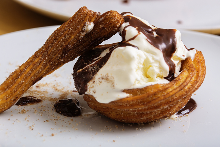 Churros in ice cream