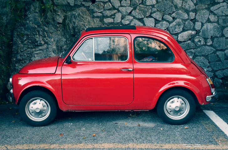 image of vintage red fiat