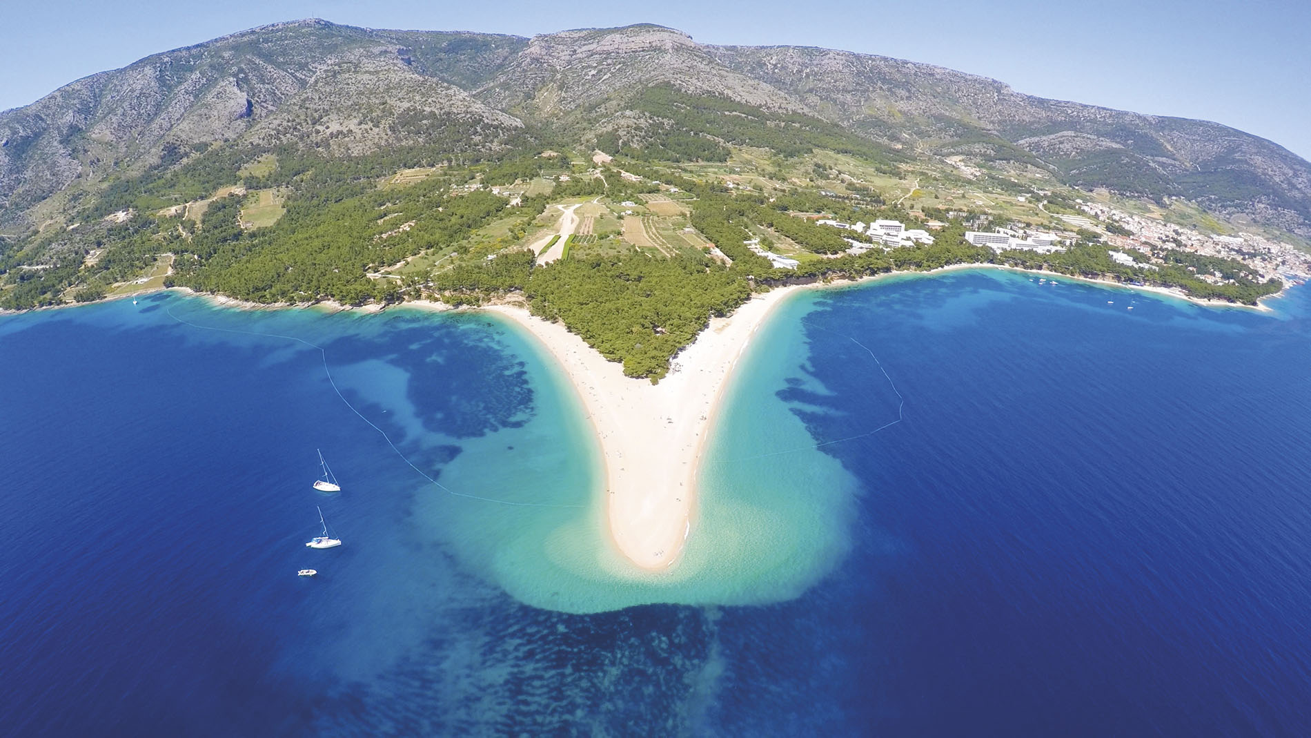 The white beaches of Brac Island