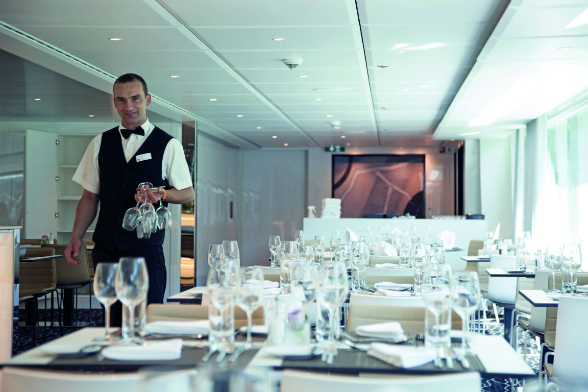 service on board an Emerald Waterways star-ship
