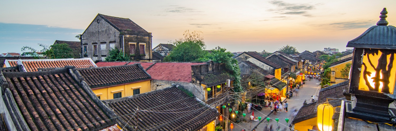 Hoi An skyline at sunset